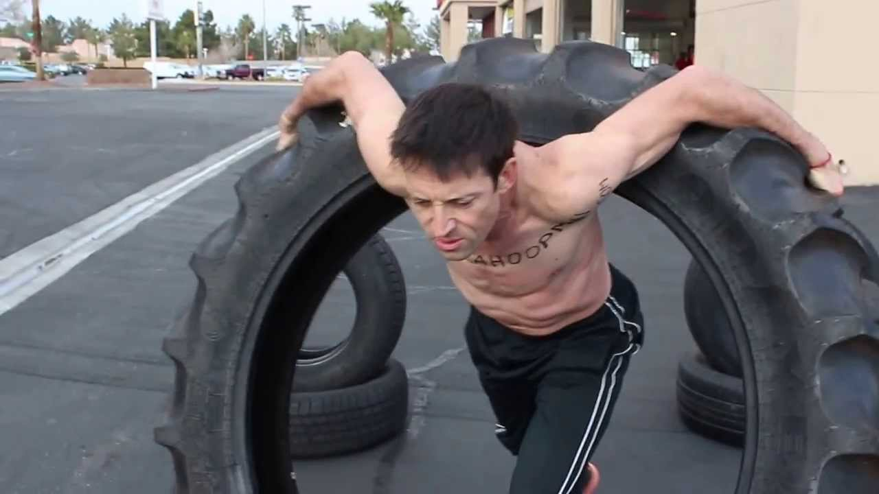 Hula Hoop mit LKW-Reifen