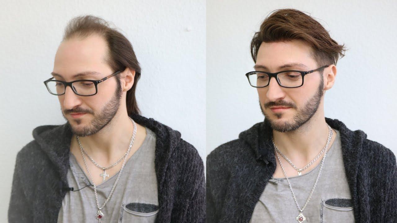 wild flexible hairstyle men