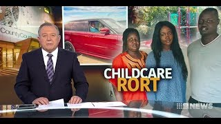 Seven + Nine News. African Refugees Super Scammed Oz Childcare.