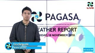 Public Weather Forecast Issued at 5:00 PM November 16, 2018