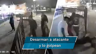 Dos de los atacantes fueron golpeados por las personas a las que llegaron a intimidar en la colonia Ranchos La Palma