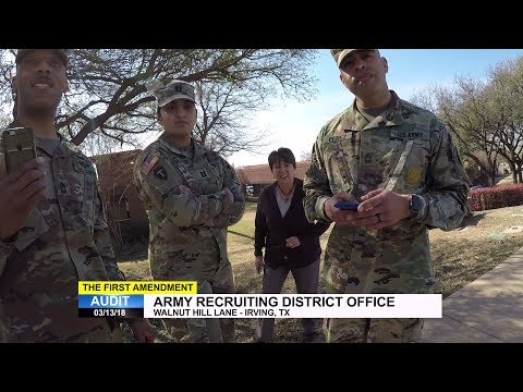 First Amendment Audit - US Army Dallas Recruiting Battalion