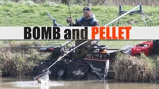 BOMB and PELLET FISHING for CARP - HARD PELLETS for BIG CARP - Rob Wootton
