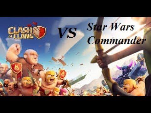 CLASH OF CLANS VS STAR WARS COMMANDER