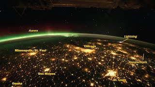 View of Earth from Satellite orbiting the Earth