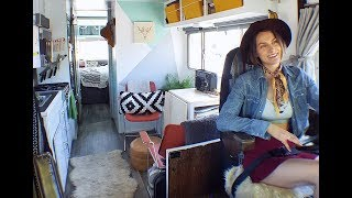 She Transformed A $1,900 Vintage Rv Into A Gorgeous Tiny House On Wheels