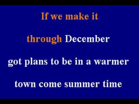 Merle Haggard - If We Make It Through December - Karaoke