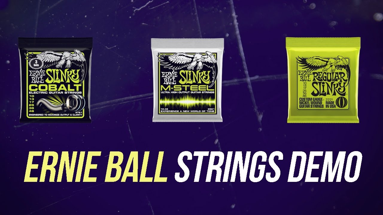 ernie ball electric guitar strings comparison the ultimate strings demo youtube. Black Bedroom Furniture Sets. Home Design Ideas