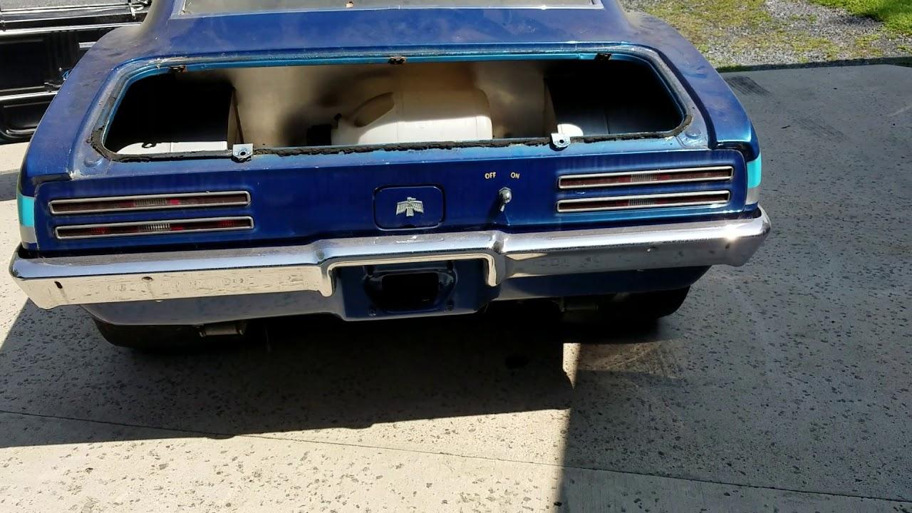 1967 Firebird Drag car running - YouTube