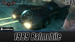 Batman Arkham Knight: 1989 Batmobile | Free Roam Test Drive + Challenges