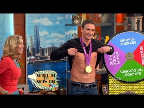Ryan Lochte s Off His Abs on 'Good Afternoon America'