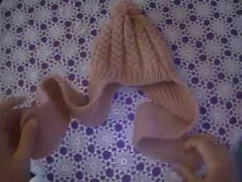 Bonnet Echarpe 2 En 1 Pour Enfant Au Tricot 1ere Partie
