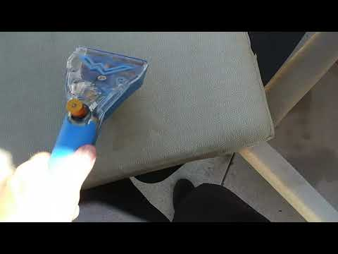 Using my new mytee dry upholstery tool