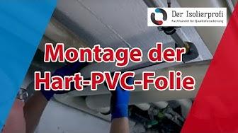 Montage von PVC Folie (Ummantelung für Rohrisolierung)
