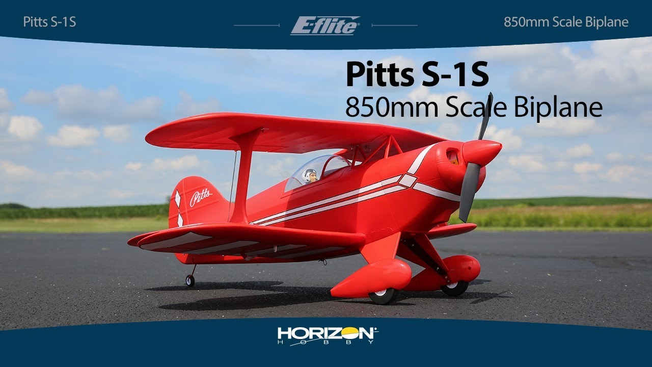 E-flite® Pitts S-1S 850mm BNF Basic & PNP