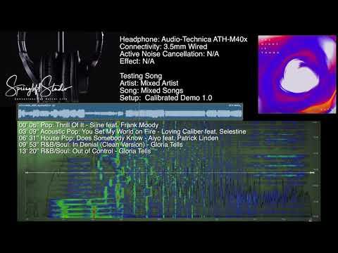 Audio-Technica ATH-M40x Sound Demo-High Quality (Cal 1.0)