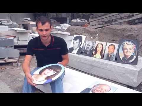 видео: Цветной портрет на камне