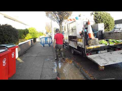 Corpo worker not happy he`s been recorded installing Irish water boundary boxes