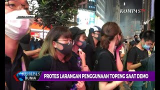 Protes Larangan Penggunaan Topeng Saat Demo Berujung Ricuh