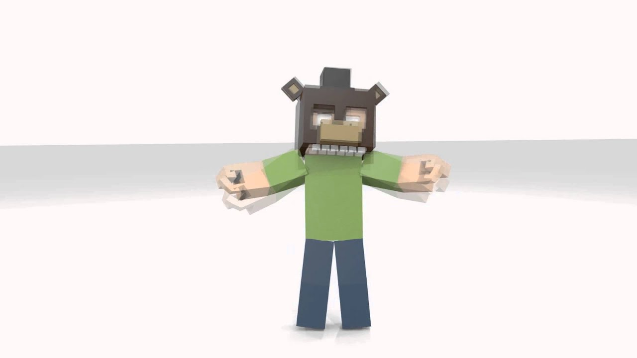 how to make a minecraft animation with blender
