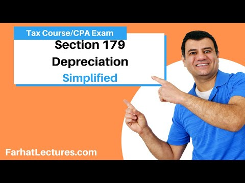 Section 179 Depreciation | Income Tax Course | TCJA 2017 | CPA Exam Regulation.  Tax Cuts 2017