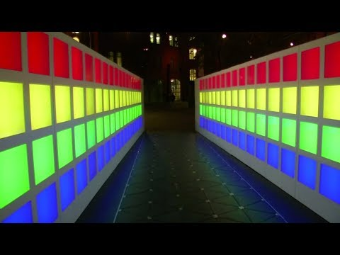 The idea for future smart cities: Interactive light walkway generates energy and data