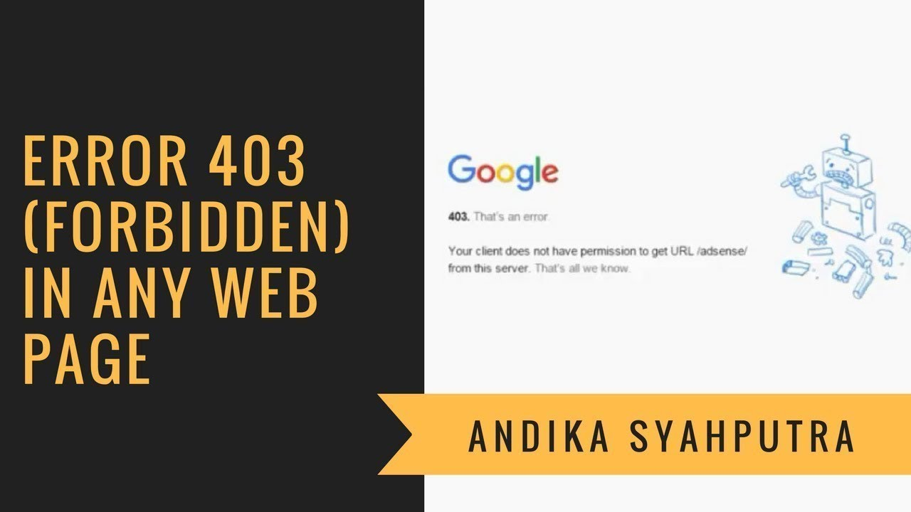 Error 403 forbidden in Any Web Page in Chrome - FIX - YouTube