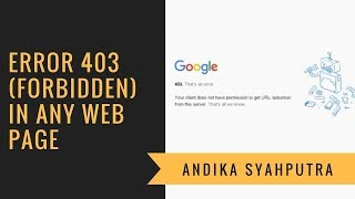 Error 403 forbidden in Any Web Page in Chrome - FIX