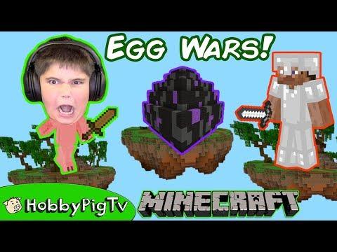 Minecraft Egg Game Mini Games, Get a Dragon Egg! HobbyPigTV