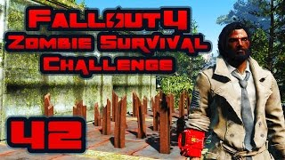 Let's Play Fallout 4: Zombie Survival Challenge - Part 42 - My House Is Made Out Of Guns!