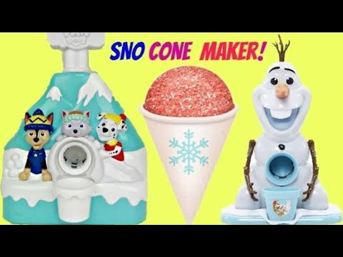 How To Make Snow Cones With Paw Patrol & Frozen Princesses