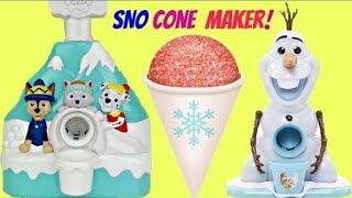 Making Snow Cones with Paw Patrol & Frozen Princesses