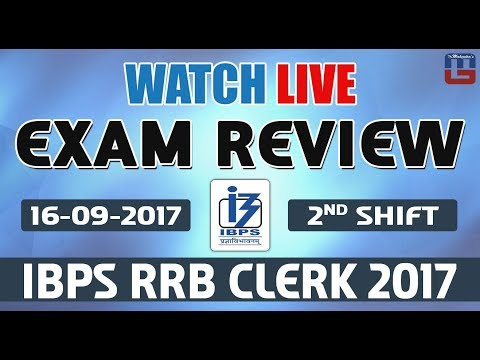 Exam Review With Cut Off | IBPS RRB CLERK 2017 | 16 September-2nd  Shift