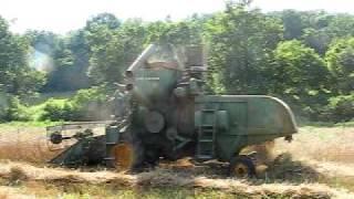 John Deere Model 45 combine harvest