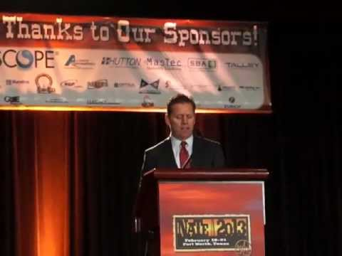 """2013 NATE: Steve Largent keynote - """"If your not innovating, your falling behind"""""""