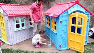 3 Renk Slime oynadık - Öykü ve Babası 3 COLORS OF GLUE SLIME  Oyuncak Avı