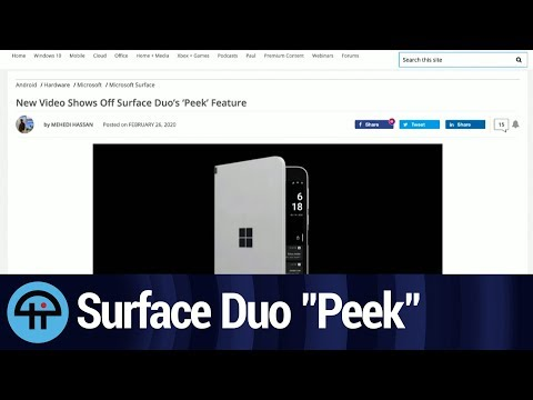 "New Surface Duo Video Shows off ""Peek"" Feature"