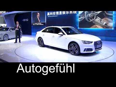 New Audi A4L Premiere Presentation & Exterior LWB long wheel base model for China neu - Autogefühl