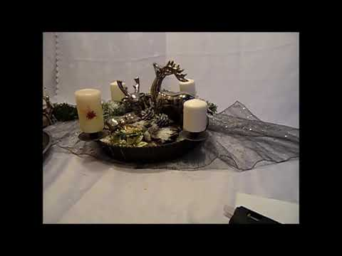 diy edle advent und weihnachts tisch deko kerzen deko selbst gemacht youtube. Black Bedroom Furniture Sets. Home Design Ideas
