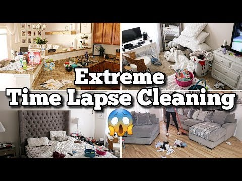 Extreme Time Lapse Cleaning | Actual Mess | Real Life Cleaning Motivation Clean With Me Messy House