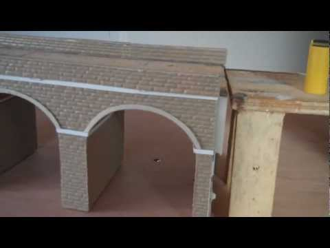 Viaduct,bridging the gap on Amberton on sea 00 gauge model railway.Part 4.