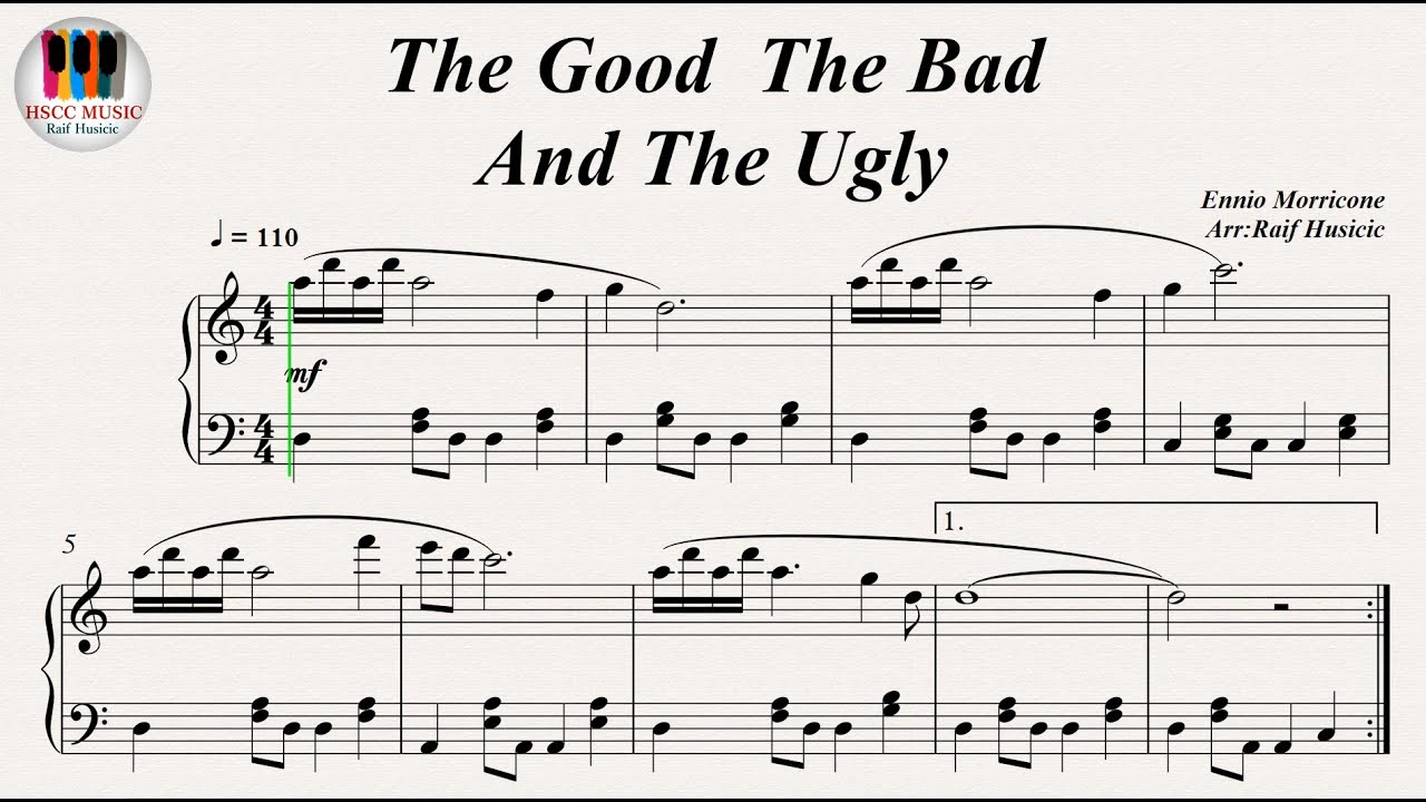 The Good The Bad And The Ugly Ennio Morricone Piano Youtube