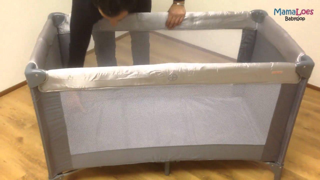 Instructies campingbedje inklappen en uitklappen mamaloes