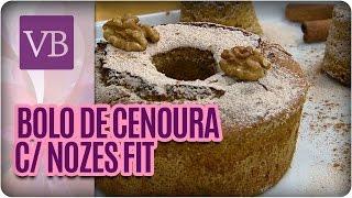 Você Bonita - Bolo de Cenoura com Nozes e especiarias (17/03/16)
