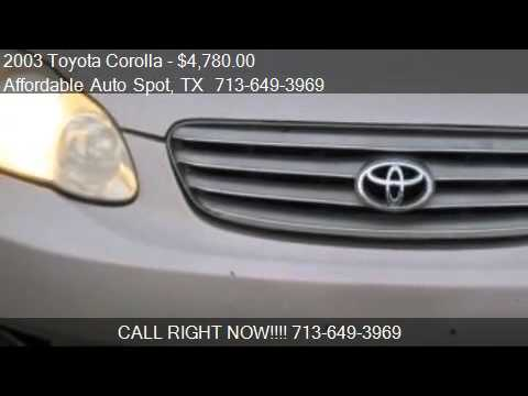 2003 Toyota Corolla CE for sale in Houston, TX 77087 at Affo