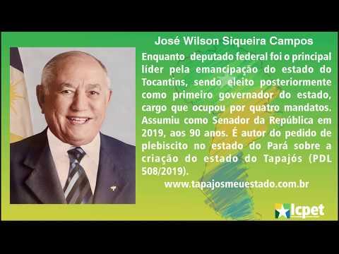 Siqueira Campos, líder da criação do estado do Tocantins, envia mensagem ao povo do futuro estado do Tapajós.