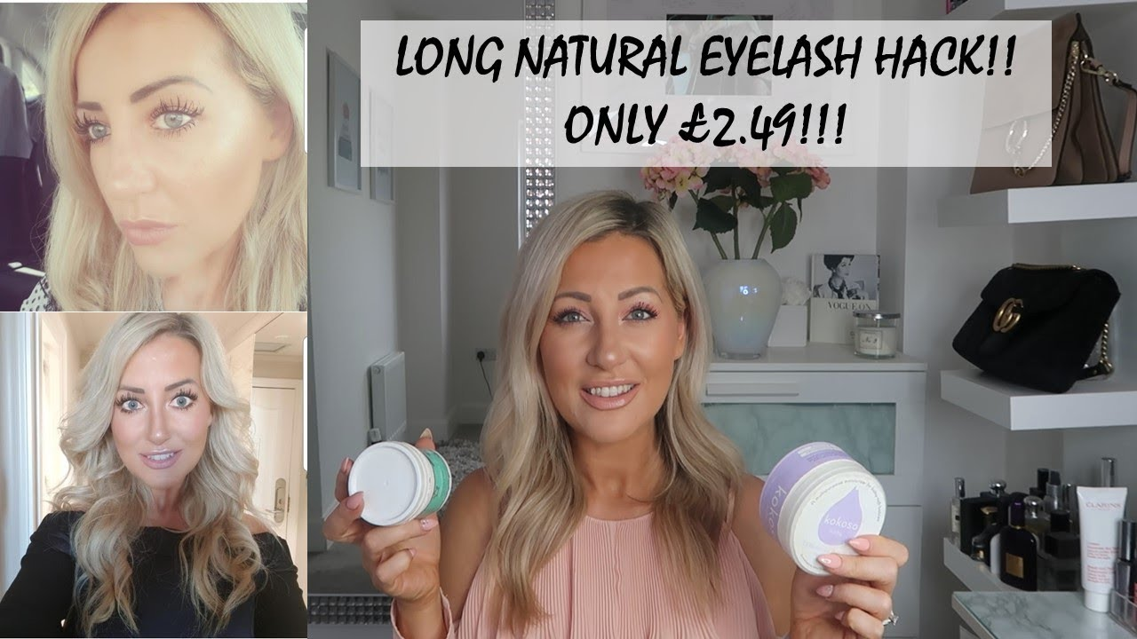 468fd46384d Mega cheap hack for extra long natural eye lashes!! £2.49!! - YouTube