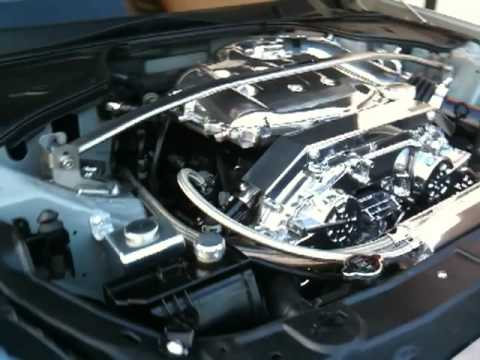 infiniti g35 engine bay with sound clip - YouTube
