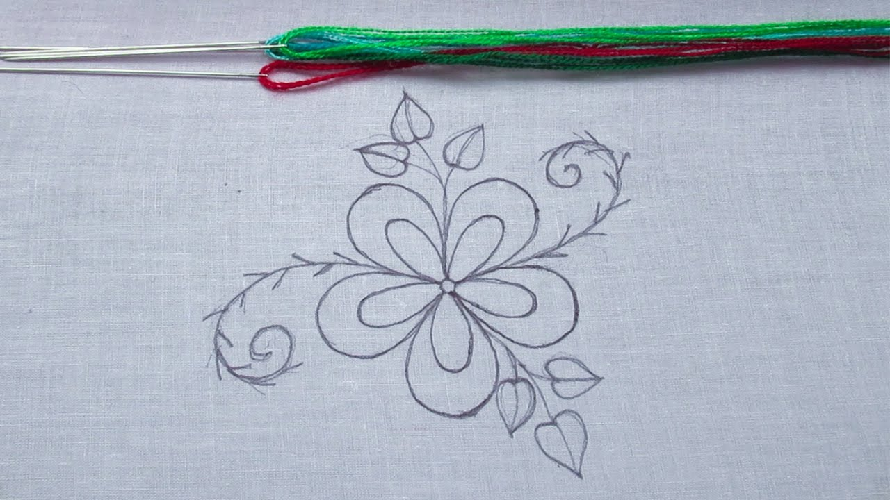 Hand Embroidery, Modern Flower Embroidery Tutorial, Easy Flower Embroidery for Beginner