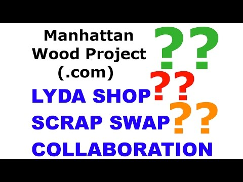51 - David Lyda's Scrap Swap Collaboration - Salt and Pepper Shakers - Manhattan Wood Project
